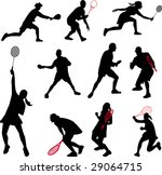 sport with rackets collection   Shutterstock .eps vector #29064715