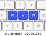 blue www keys on white computer ...   Shutterstock . vector #290651363