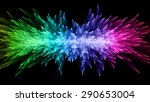 abstract lighting or glare with ... | Shutterstock . vector #290653004