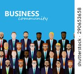 flat  illustration of business... | Shutterstock . vector #290653658