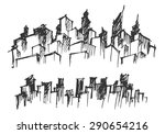 doodle of cityscape vector... | Shutterstock .eps vector #290654216