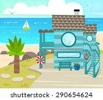 Beach House   Cartoon Beach...