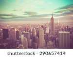 new york city  manhattan with... | Shutterstock . vector #290657414