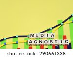 Small photo of Business Term with Climbing Chart / Graph - Media Agnostic