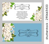 spring delight collection.... | Shutterstock .eps vector #290665433