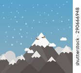 snow mountain scenery with few... | Shutterstock .eps vector #290666948