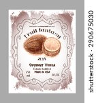 vintage fruit alcohol labels.... | Shutterstock .eps vector #290675030