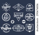 various coffee shop and product ... | Shutterstock .eps vector #290676836