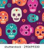 Colorful Skull Cute Pattern ...