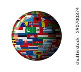 national flag  globe | Shutterstock . vector #290700374