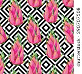 seamless tropical pattern with... | Shutterstock .eps vector #290707508