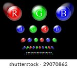 rgb circles on black background | Shutterstock . vector #29070862