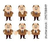 set of man characters   Shutterstock .eps vector #290708849