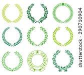 a set of nine high detail... | Shutterstock .eps vector #290710904