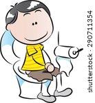 boy in the toilet | Shutterstock .eps vector #290711354