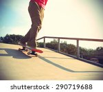 skateboarder legs skateboarding ... | Shutterstock . vector #290719688