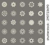 25 round floral symbols.... | Shutterstock .eps vector #290723690