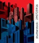 high density city buildings... | Shutterstock .eps vector #290725916