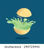 fresh melon fruit juice... | Shutterstock .eps vector #290725943