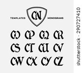 monogram design template with... | Shutterstock .eps vector #290727410