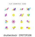 set of vector abstract flat... | Shutterstock .eps vector #290729108