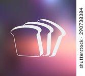bread icon vector simple app...