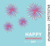 happy independence day united... | Shutterstock .eps vector #290753768
