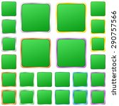 green blank square metal button ... | Shutterstock .eps vector #290757566