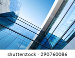 low angle view modern building... | Shutterstock . vector #290760086