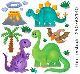 dinosaur theme set 1   eps10...   Shutterstock .eps vector #290763140