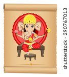 happy ganesh chaturthi | Shutterstock .eps vector #290767013