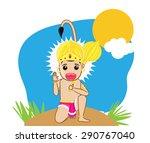 happy hanuman jayanti | Shutterstock .eps vector #290767040