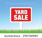 yard sale board | Shutterstock .eps vector #290768984