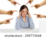 many hands pointing the... | Shutterstock . vector #290773568
