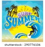 vector logo summer holiday and...   Shutterstock .eps vector #290776106