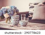 bouquet of hortensia flowers... | Shutterstock . vector #290778623