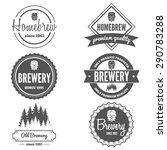set of vintage logo  badge ... | Shutterstock .eps vector #290783288