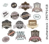 set of premium quality labels ... | Shutterstock .eps vector #290791418