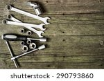 tools kit on wooden table | Shutterstock . vector #290793860