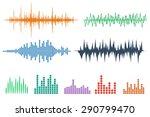 sound wave icon set. equalize... | Shutterstock .eps vector #290799470