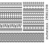 henna banner  border  henna... | Shutterstock .eps vector #290811548