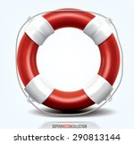 Life Buoy Isolated On White....