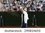 tennis player playing on a clay ... | Shutterstock . vector #290814653