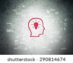 marketing concept  head with... | Shutterstock . vector #290814674
