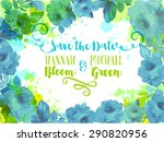 wedding invitation  background... | Shutterstock .eps vector #290820956