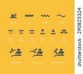 surfing weather icons. | Shutterstock .eps vector #290825324