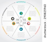 circular chart infographic....   Shutterstock .eps vector #290825960