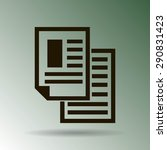 note paper    vector icon... | Shutterstock .eps vector #290831423