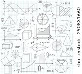 mathematical vector formulary.... | Shutterstock .eps vector #290831660