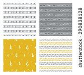 hand drawn seamless patterns ... | Shutterstock .eps vector #290838128
